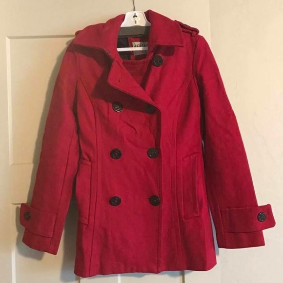 kid well known latest sale Red Delias Peacoat